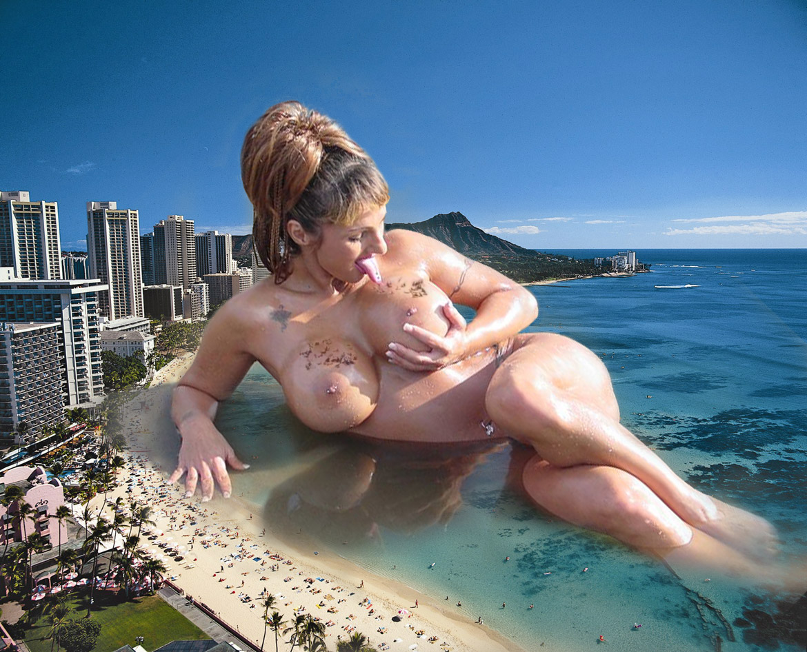 Giantess nude in the city xxx clip
