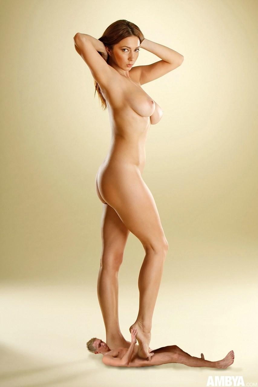 ... amazon barefoot breasts crush foot_job giantess nude shrunken_men soles ...