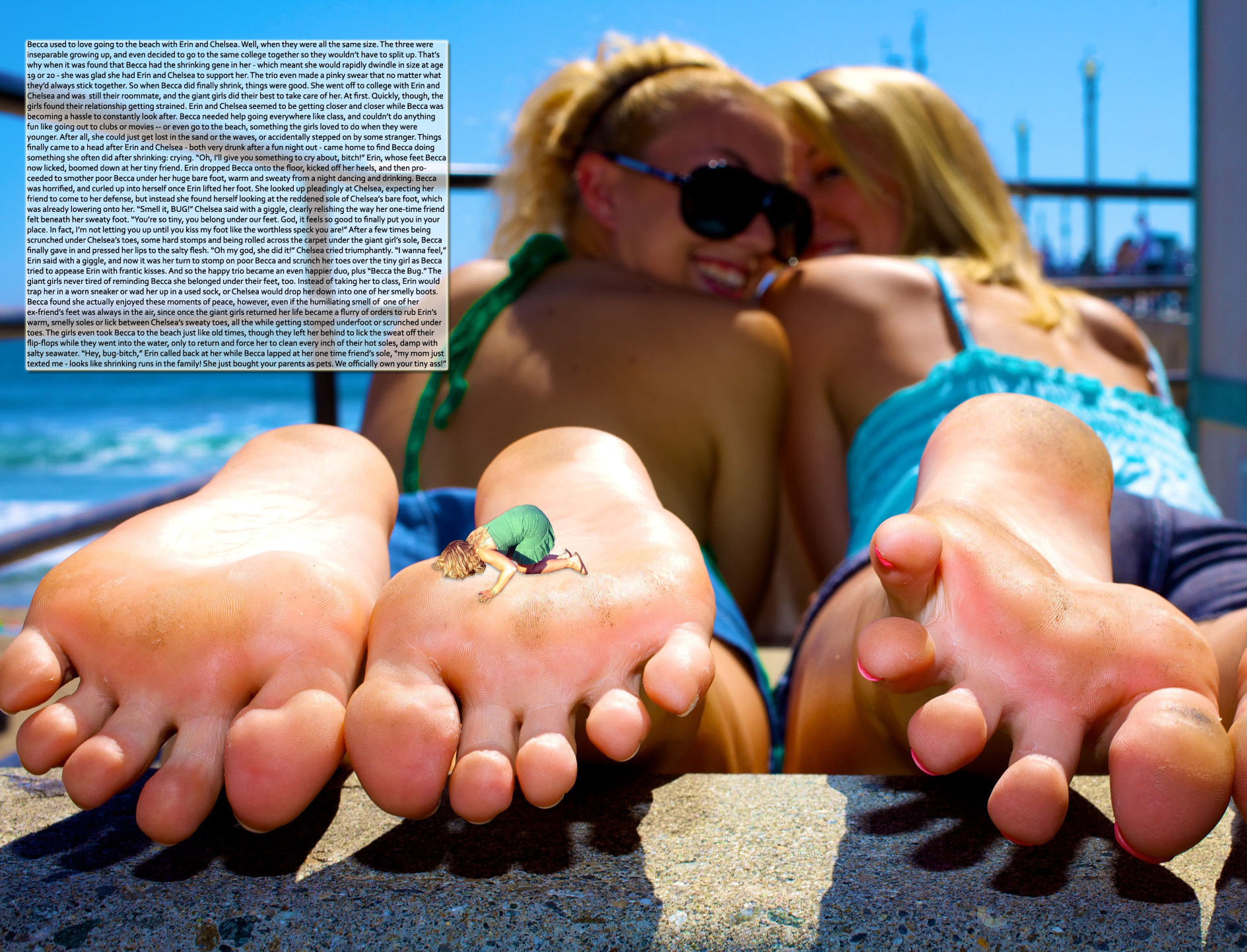 foot slave to shemale giantess stories