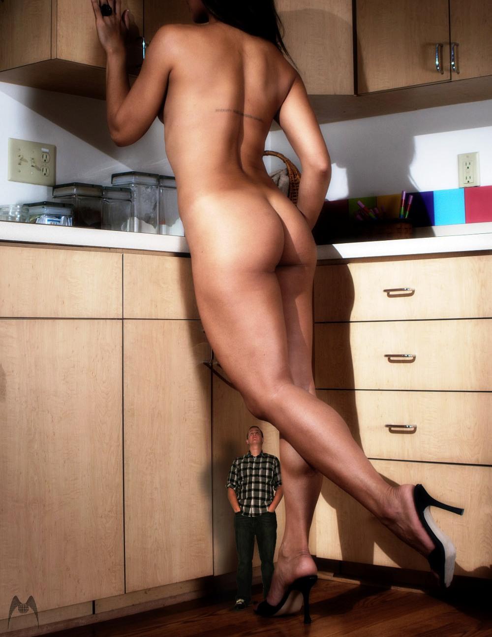Naked men in heels