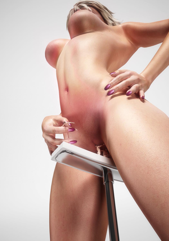 Giantess' naked vagina hentai toons