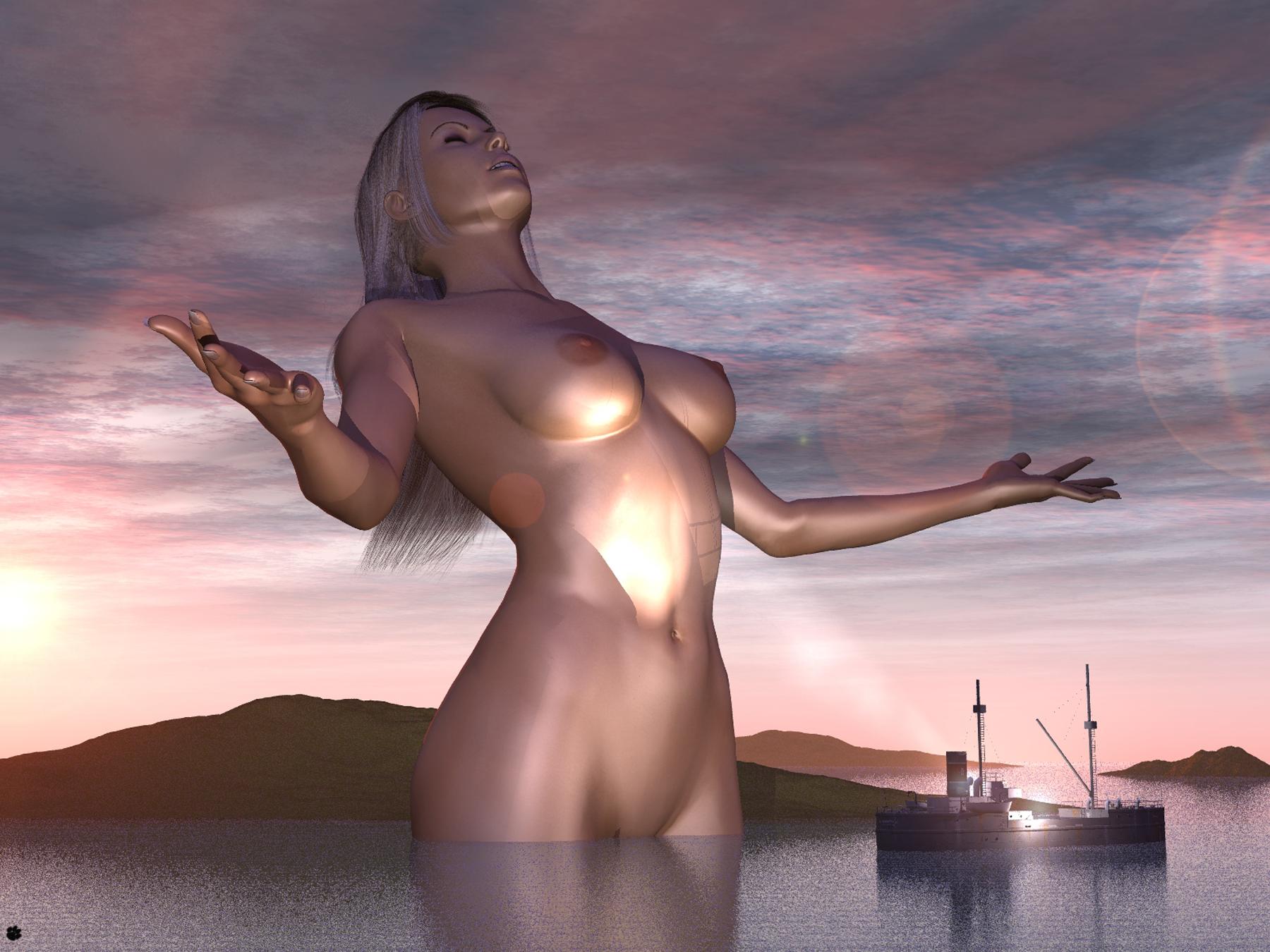 Virtual giantess girlfriend nude free hentai image