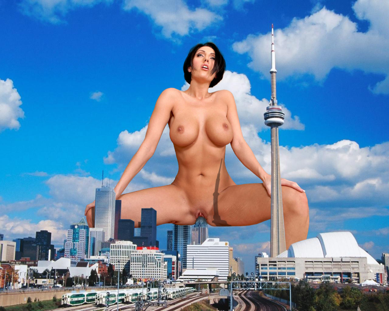 Giantess nude hentay scene