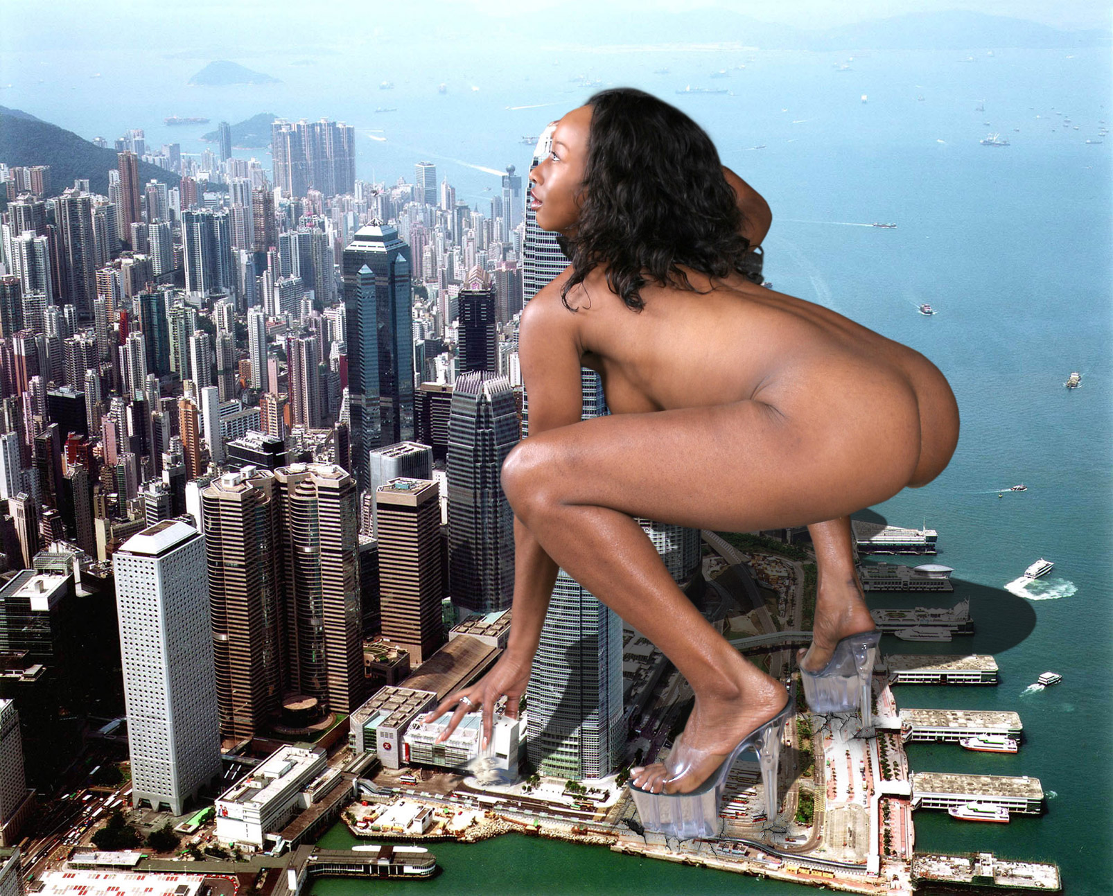 Giantess big ass black