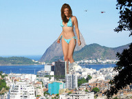 bikinis brunette city collage giantess helicopter kelly_brook mountain swimsuit wading water wonderslug // 2272x1704 // 1.3MB