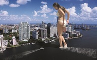 boats city clouds collage giantess kelly_brook sky skyscrapers wading wonderslug // 2000x1237 // 1.3MB