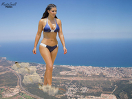 bikinis brunette cleavage collage destruction giantess kim_kardashian landscape mastasmall ocean underfoot walking // 800x600 // 306.3KB