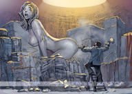 color creative drawing hammer insertion mini_giantess nude statue surprised // 800x566 // 146.2KB