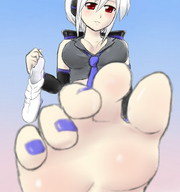 barefoot blonde cleavage drawing giantess pedicure point_of_view raised_foot socks upward_angle // 866x924 // 160.4KB