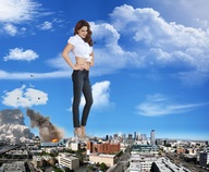city clothed clouds collage destruction fire giantess high_heels kelly_brook mega_giantess military missiles sets sky skyscrapers wonderslug // 2000x1643 // 847.0KB