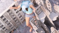 barefoot between_buildings cat_ears cat_girl city downward_angle giantess imminent_crush looking_at_victim looking_down poser raised_foot running shrunken_man tiny-mk // 1920x1080 // 613.5KB