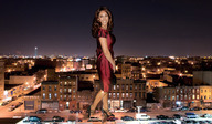 brunette buildings cars city citylights clothed collage dress giantess high_heels kelly_brook lights nighttime street wonderslug // 2764x1608 // 1.2MB