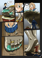 anime color crush drawing feet foot_crush giantess manga shrunken_man shrunken_men stomp // 600x824 // 133.3KB
