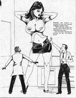 anime breasts cat95 city_destruction clothes_ripping drawing evil_giantess growth manga monochrome // 501x646 // 240.6KB